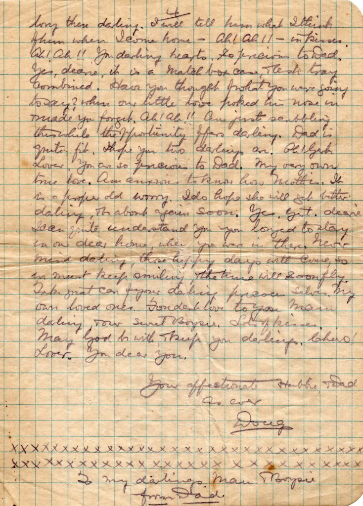 Doug Cavey's last letter to his wife August 29th, 1917