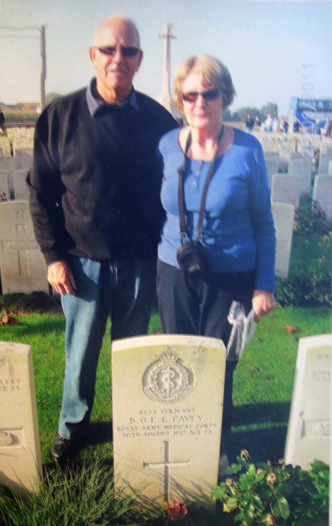 Richard and Jeannie Cavey Visiting Douglas Cavey's Grave.