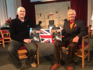 Roger Pyke and Jim Edwards show off their book