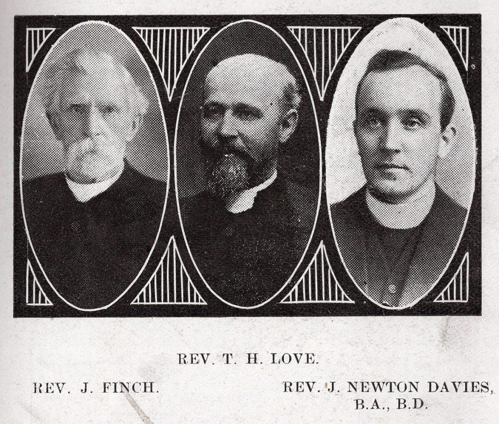 Launceston Wesleyan Ministers in 1916