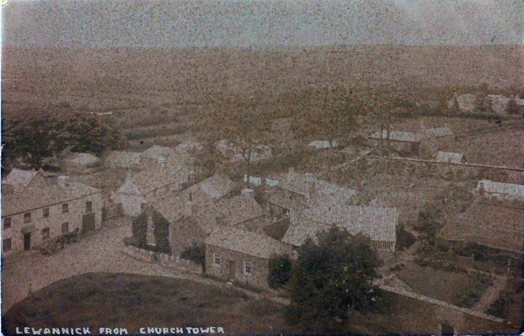 Lewannick from the Church Tower c 1900