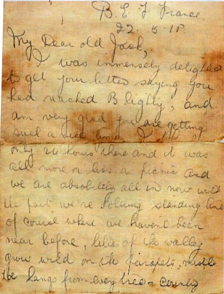 Walter Bridgemans Last Letter Home