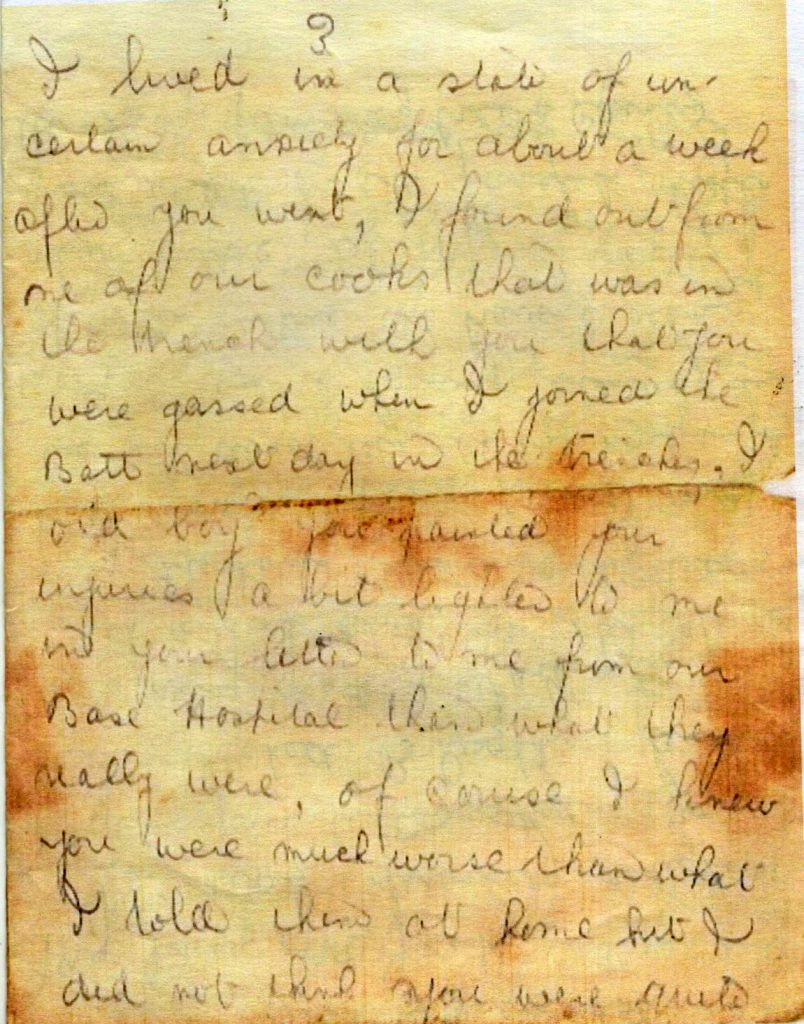 Walter Bridgemans Last Letter Home page 3