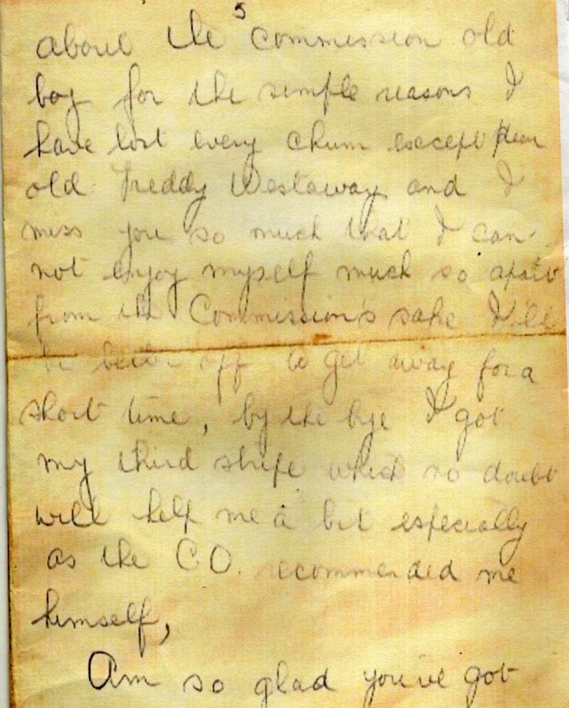 Walter Bridgemans Last Letter Home page 5