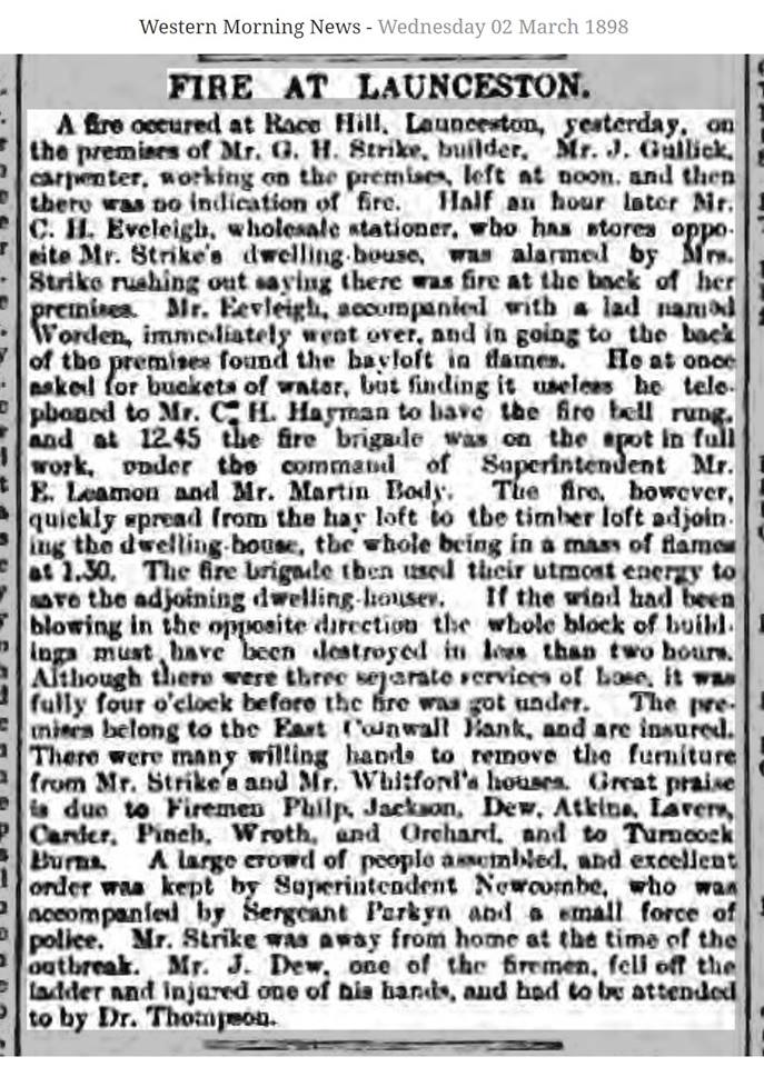 Western Morning News Wednesday March 2nd, 1898
