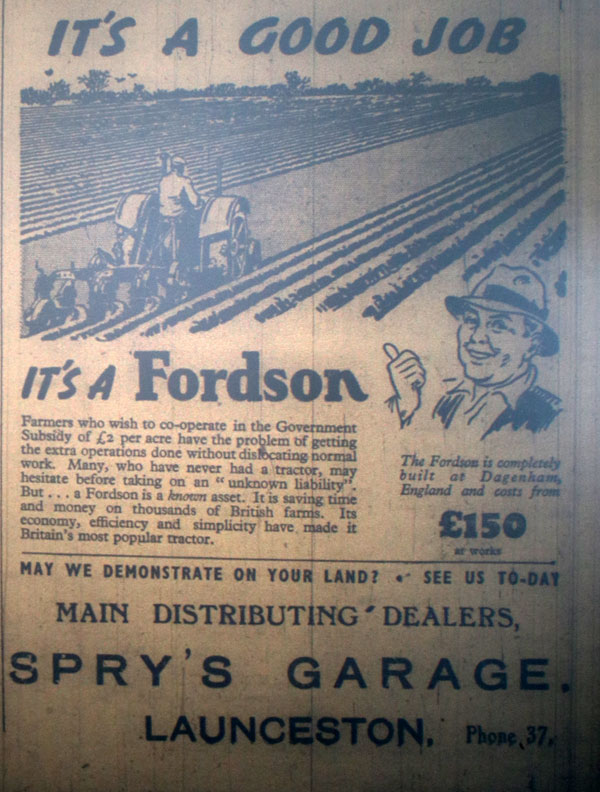 Sprys January 1940, advert.