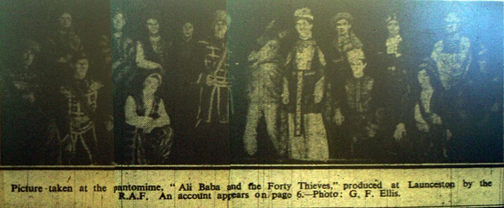 Cast of Ali Babba January 1944.
