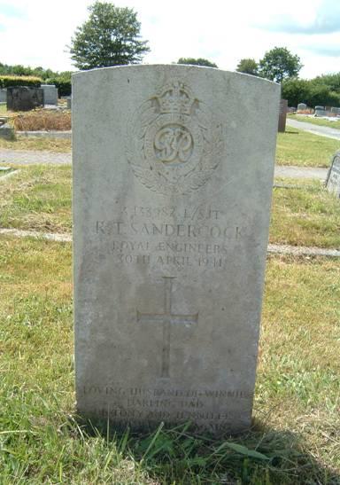 Lance Sergeant Richard Sandercock Headstone