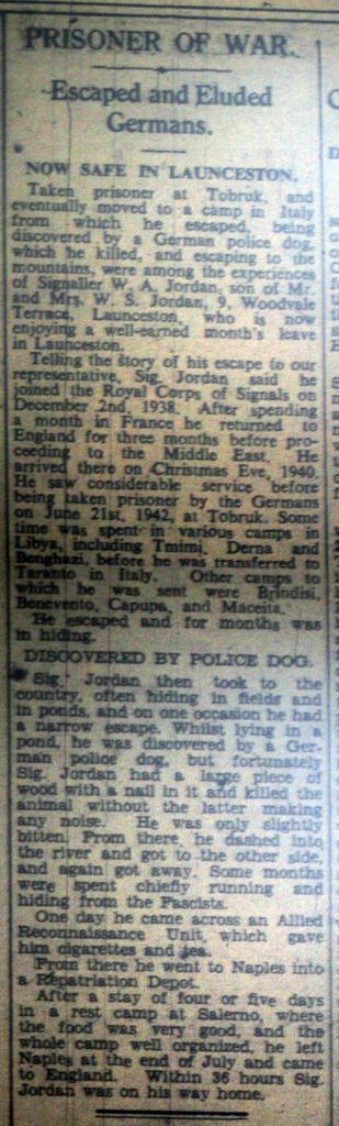Launceston POW Story July 1944.