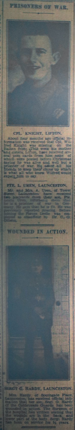 Launceston POW's March 10th, 1944.