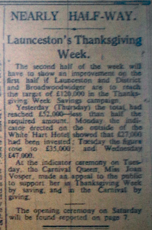 Launceston Thanksgiving Week, November 1945.