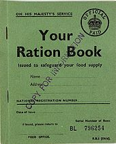 Childs Ration Book.
