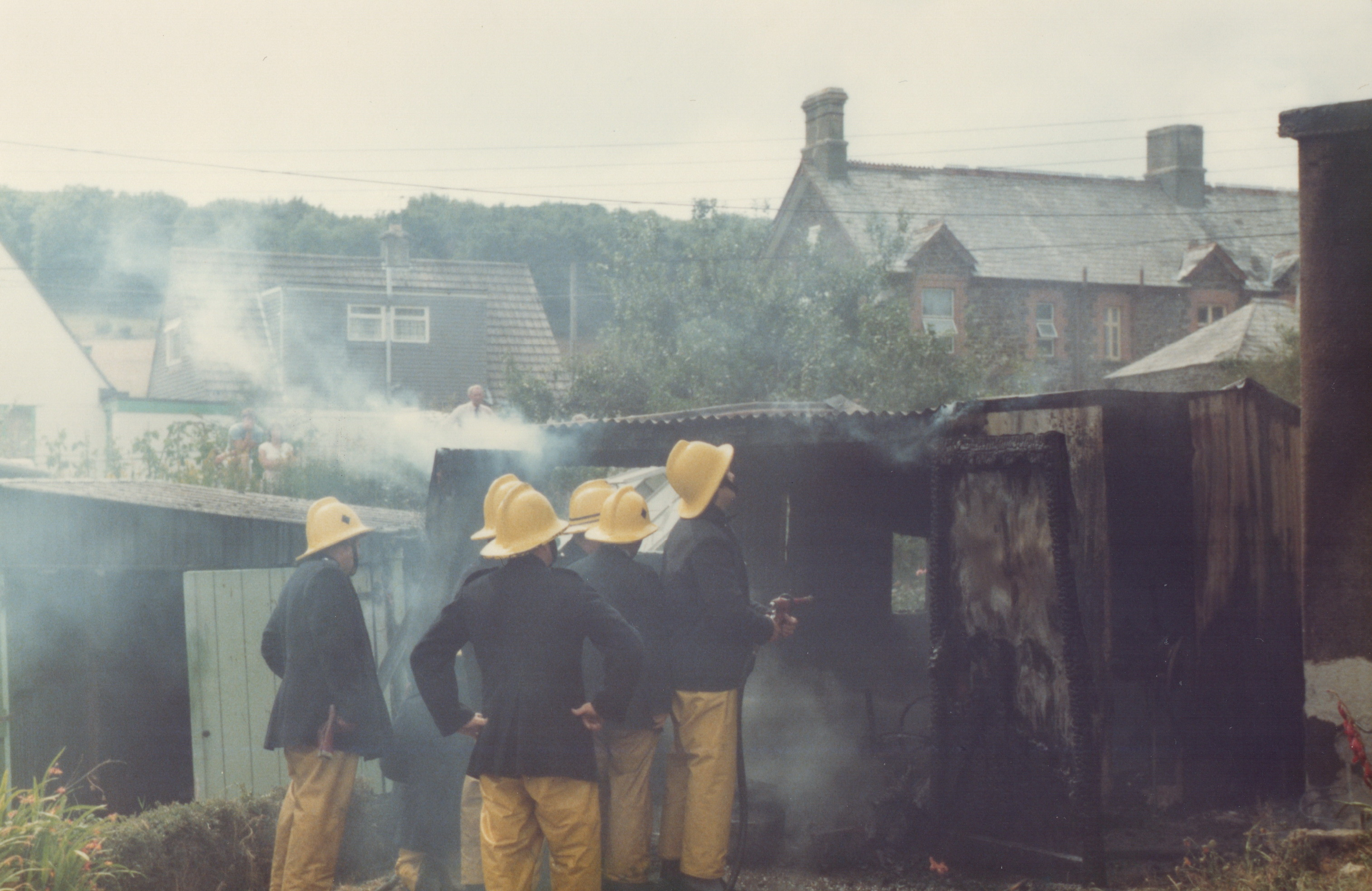 Lifton Fire August 16th, 1983. Photo's courtesy of Gary Chapman.