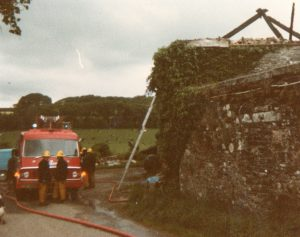 Lewannick Barn Fire, 1986.