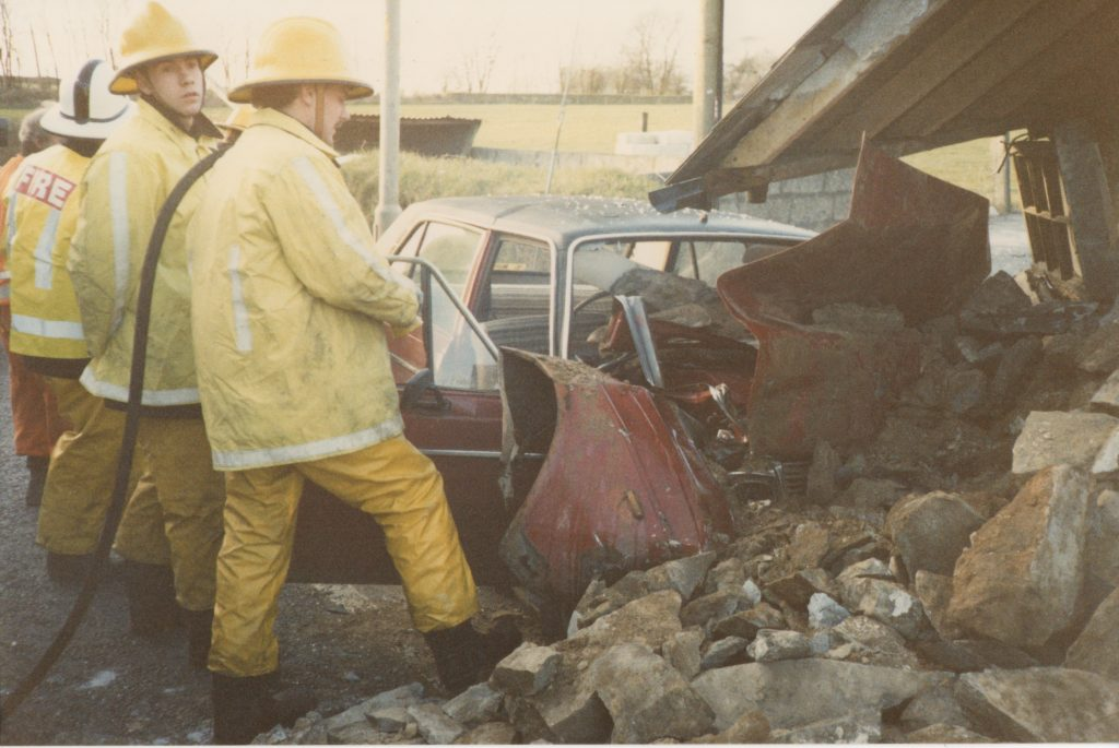 RTC at Trebursye on the old A30, February 25th, 1988.