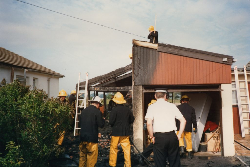 Tregaller Garage Fire, June 17th, 1988.