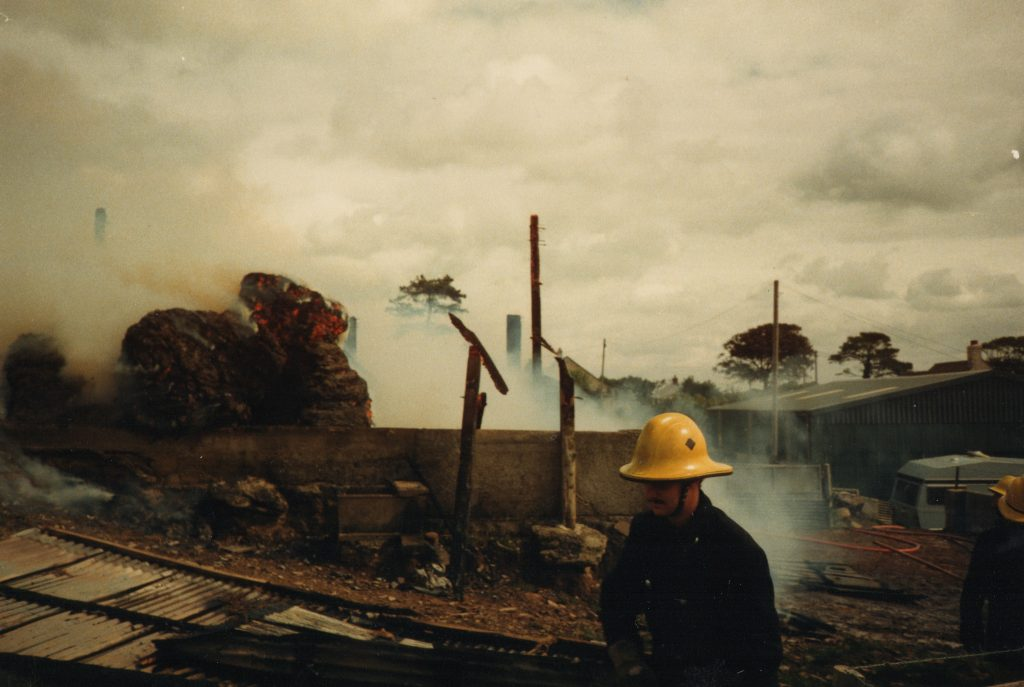 Boyton Barn Fire, August 14th, 1989.