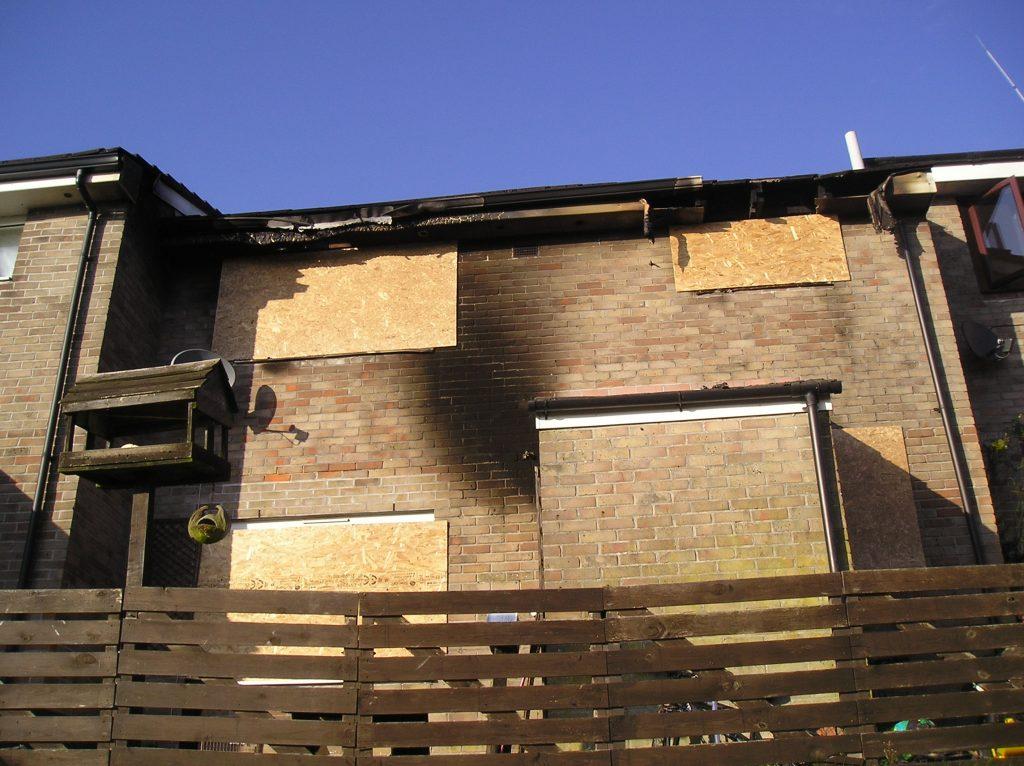 Ridgegrove Estate Fire, November 4th, 2008. Photo courtesy of Gary Chapman.