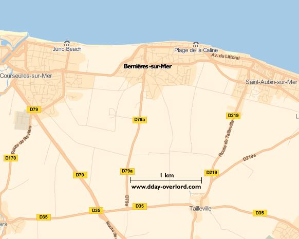Bernières-sur-Mer D-Day map