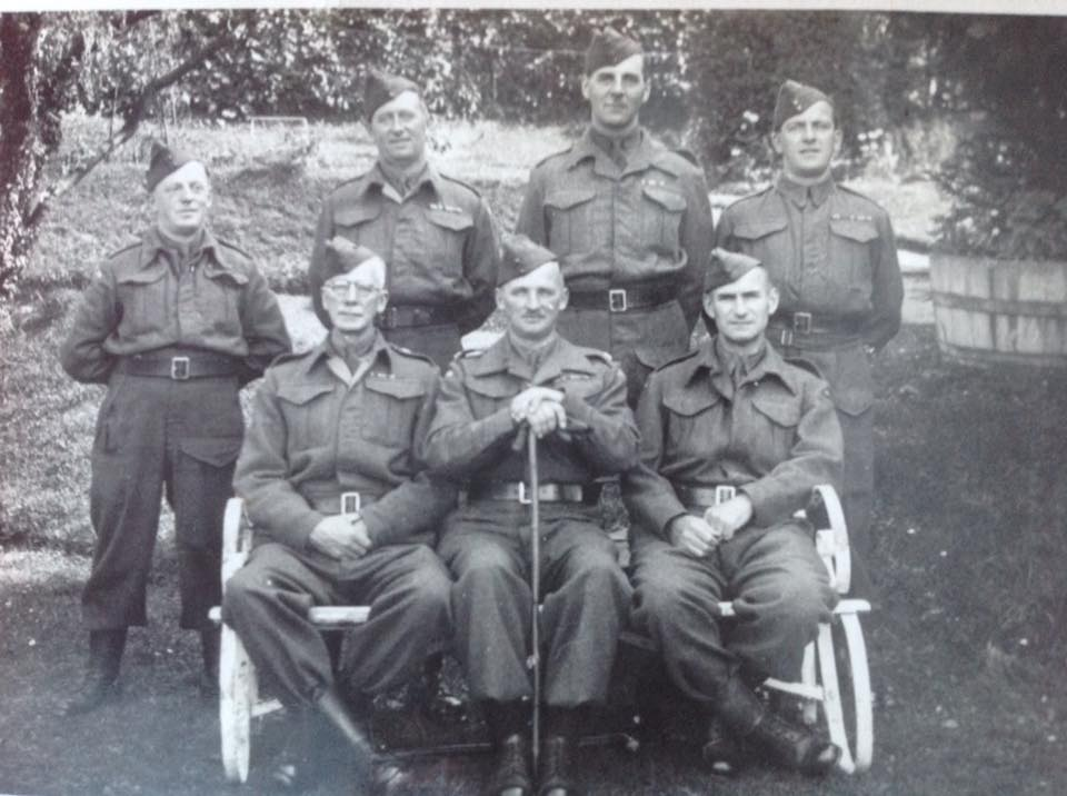Officers of the Home Guard. 1941. Photo courtesy of Steph Notley.