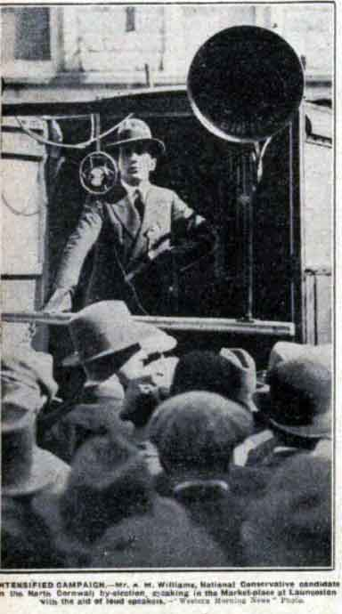 Alfred canvassing during the 1932 by-election.