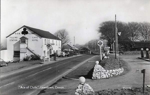 The Ace of Clubs, Lewdown in the late 1950's.