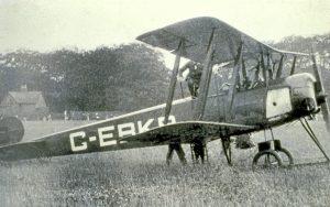 shawe Aero Avro 504K G-EBKB taken at Manchester's short-lived Wythenshawe Aerodrome in Summer 1929. Copyright of  R.A. Scholefield