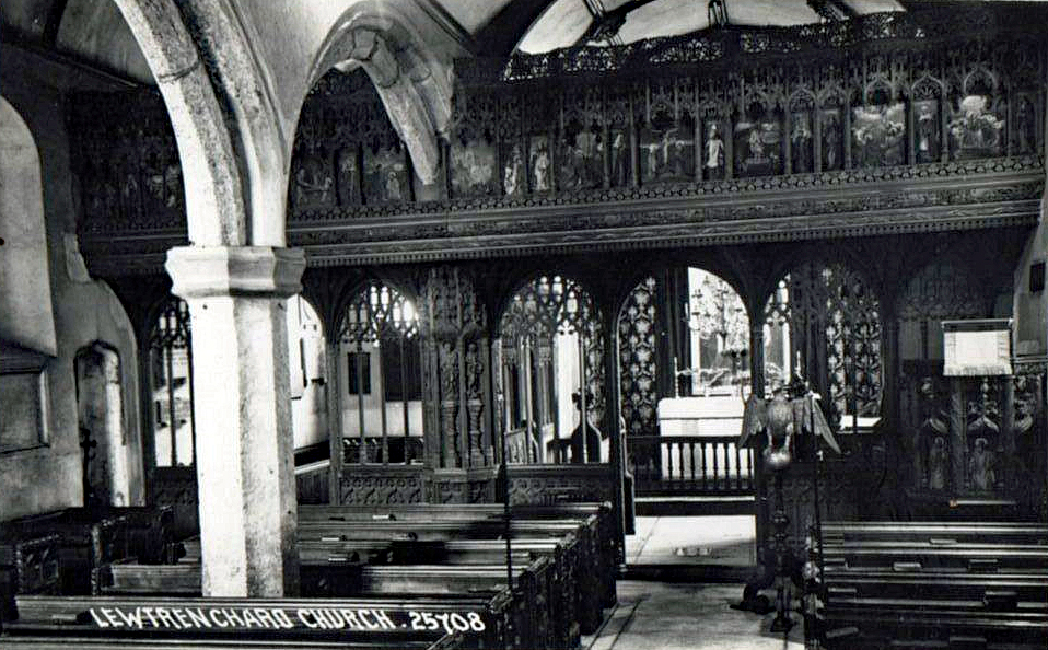 Lewtrenchard Church interior.