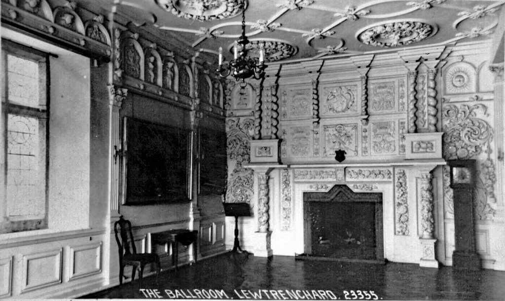 Lewtrenchard Manor Ballroom c.1915