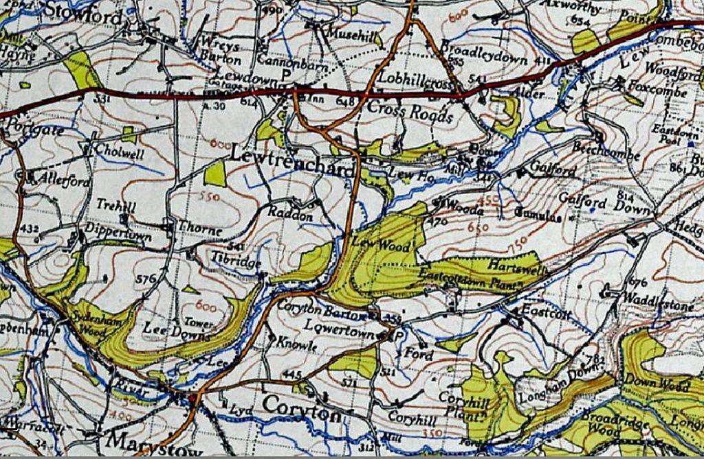 Lewtrenchard Map