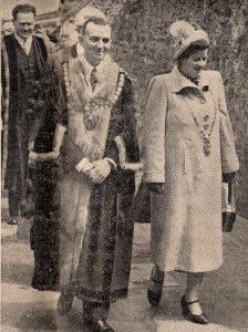 New 1951 mayor Reuben Lewis Hicks and his wife in May 1951