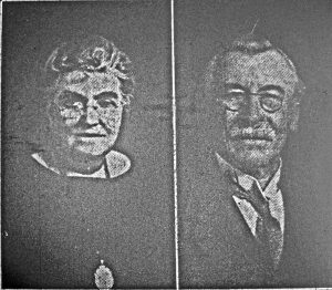 Sir Alfred Robbins and his wife in 1924.