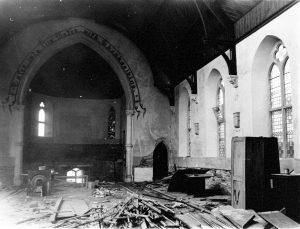 Inside the Launceston Bible Christian Chapel just before its demolition.