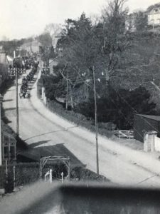William Barriball's funeral procession in Western Road, Launceston, 1925. Photo courtesy of Linda Bushell