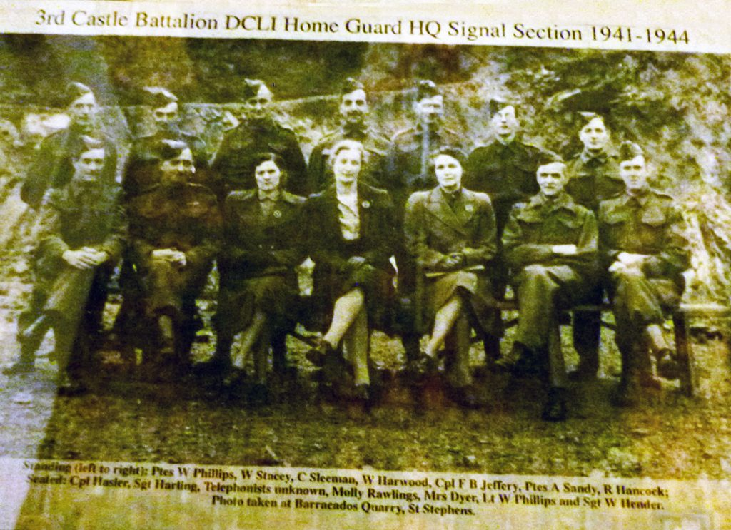 3rd Castle Battalion DCLI Home Guard HQ Signal Section 1941-44.