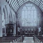 St. Mary Magdalene Church interior, c.1870. Photo by Henry Hayman