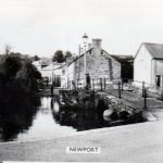 River Kensey and Priors Bridge and looking up Westbridge Road, Launceston in the 1950's.
