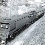 'Camelford' steams away from Launceston Railway Station in the early 1960's.