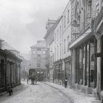 Old picture of Back Lane, Launceston