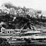 Early picture of Launceston Railway Station.