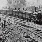 The first Train into Launceston 1865.