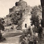 Launceston Castle in the 1950's.