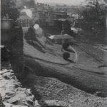 Launceston Castle lodge in 1982.