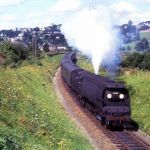 Bullied steaming out of Launceston Railway Station through Ridgegrove Cutting in 1964.