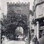 Launceston's Southgate decorated for the visit of the Duke of Cornwall in 1909.