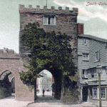 Launceston's Southgate from around 1887 after its refurbishment.