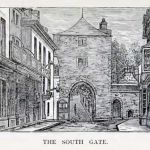 A drawing of The Southgate by Otho Peter.