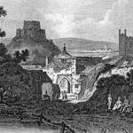 An engraving of The Southgate from Race Hill in 1818.