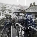 Unveiling of Launceston Bullied train naming ceremony at Launceston Railway Station in 1947.