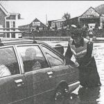 Flooding outside Greenaways in the late 1980's